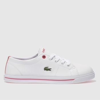 Lacoste White Riberac Girls Junior