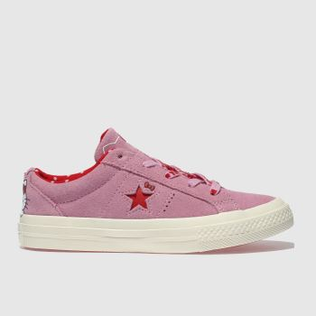 Converse Pink One Star Hello Kitty Girls Junior