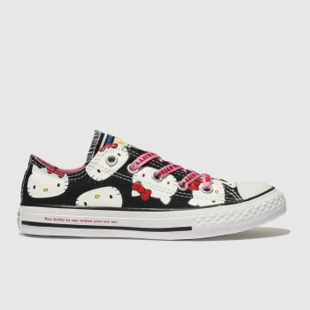 Converse Black All Star Hello Kitty Lo Girls Junior