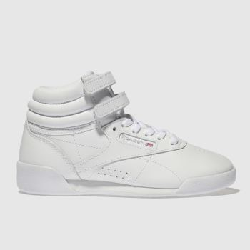 Reebok White Hi Leather Girls Junior