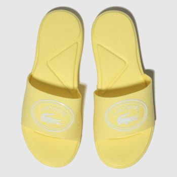 Lacoste Yellow L.30 Slide Girls Junior