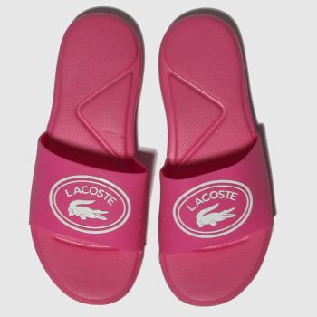 Lacoste Pink L.30 SLIDE Girls Junior