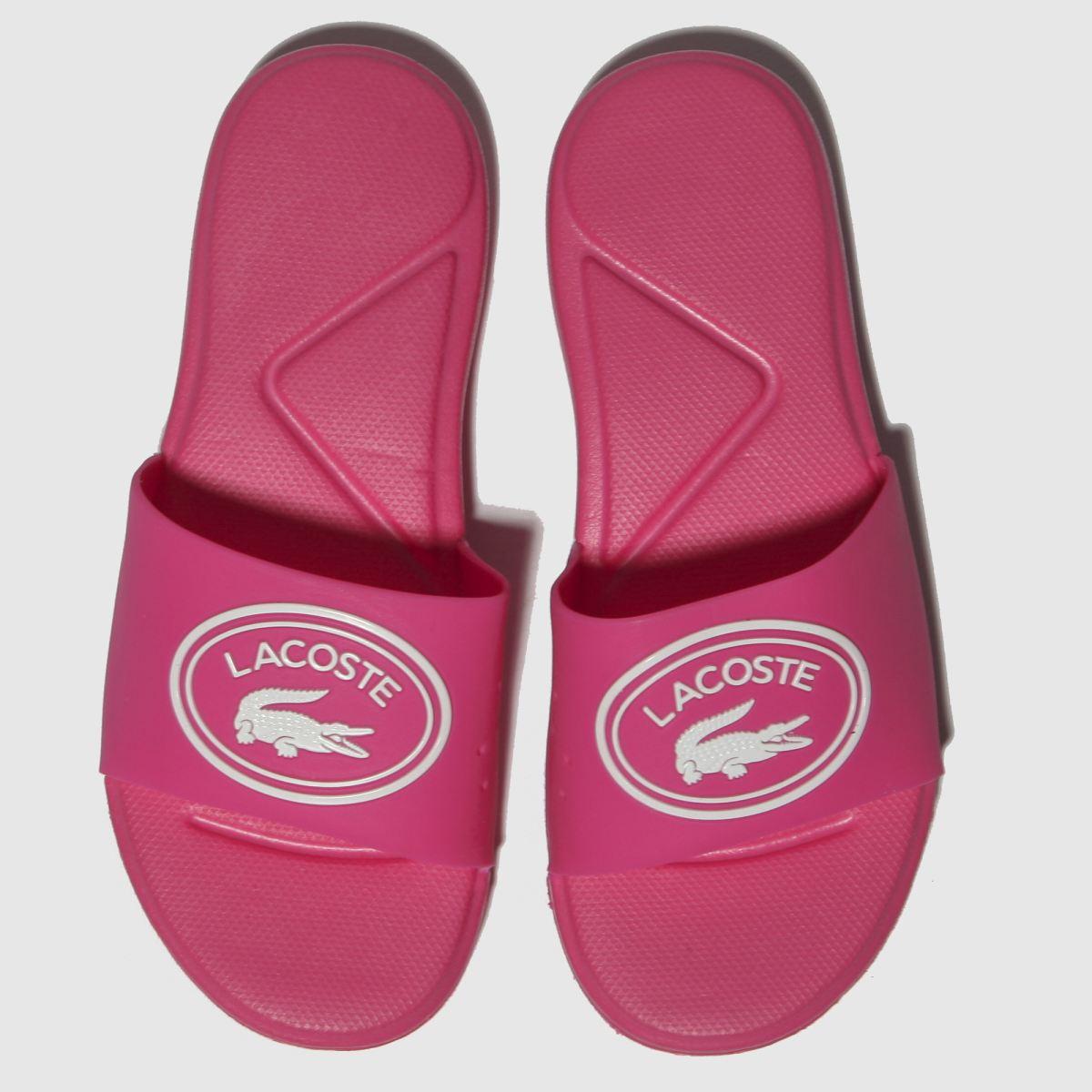 Lacoste Pink L.30 Slide Sandals Junior