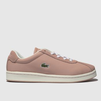 LACOSTE PALE PINK MASTERS TRAINERS JUNIOR