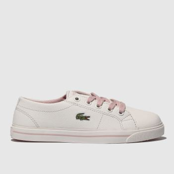 Lacoste White & Pink RIBERAC Girls Junior