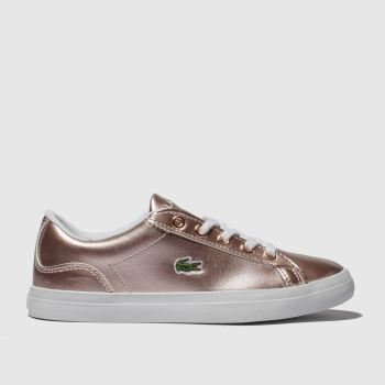 lacoste pink lerond trainers junior