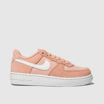 Nike Peach Air Force 1 Girls Junior