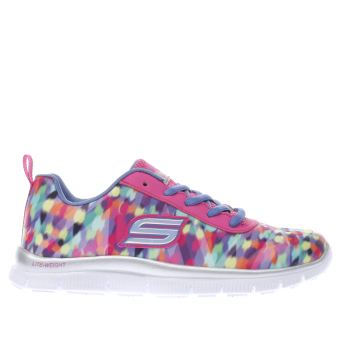 ab48a7da2451 Girls multi skechers skech appeal rainbow runner trainers