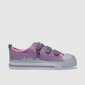 Skechers Pink Twinkle Lite Mermaid Magic Girls Junior