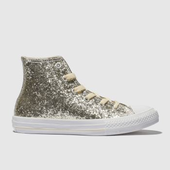 Converse Gold All Star Hi Glitter Girls Junior