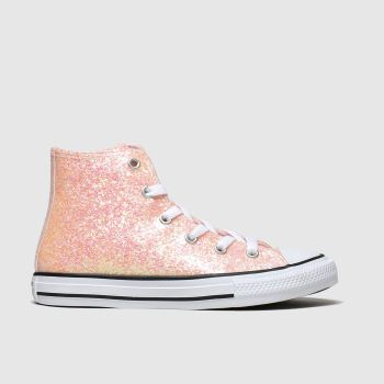 Converse Peach All Star Hi Glitter Girls Junior