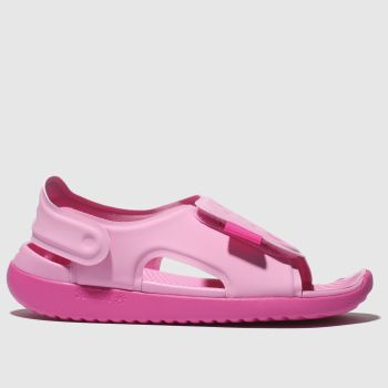 nike pale pink sunray adjust 5 trainers junior