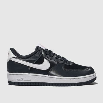 Nike Navy & White Air Force 1 Vday Girls Junior