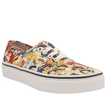 d3eddb3c3a Girls multi vans authentic disney princesses trainers