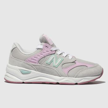 New Balance Light Grey X90 Girls Junior