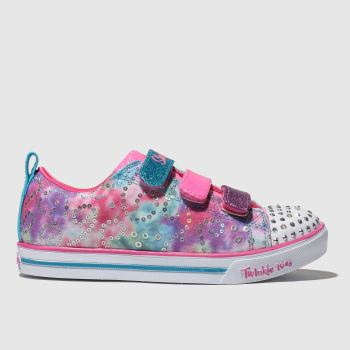 Skechers Pink Sparkle Lite Rainbow Brights Girls Junior