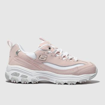 Skechers Pale Pink Dlites Biggest Fan c2namevalue::Girls Junior