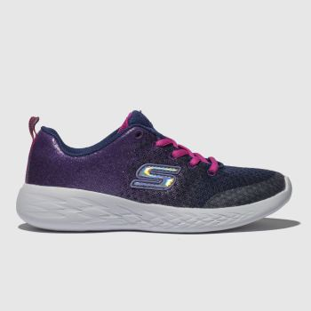 Skechers Navy Go Run 600 Girls Junior