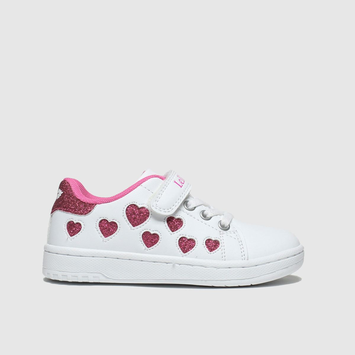 Lelli Kelly White & Pink Cuore Trainers Junior