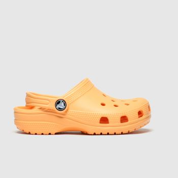 Crocs Orange Classic Clog Girls Junior