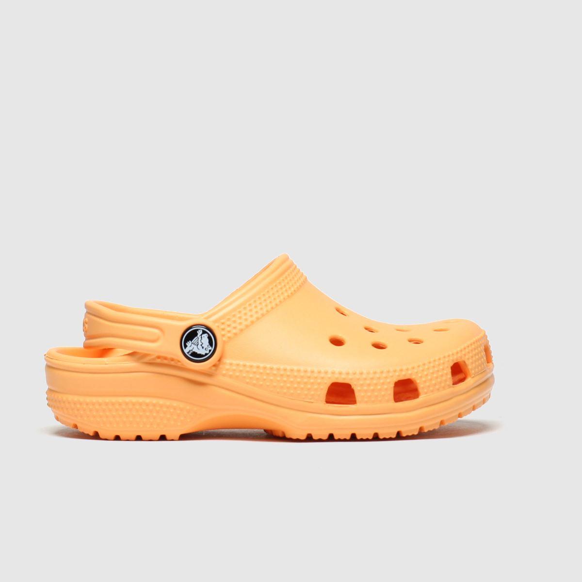 Crocs Orange Classic Clog Trainers Junior
