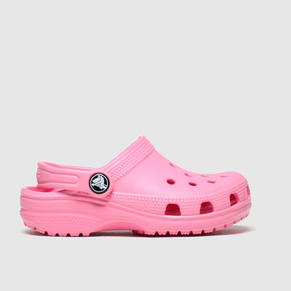 Crocs Pink Classic Clog Trainers Junior