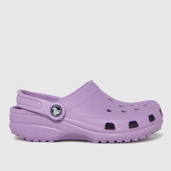 crocs Lilac Classic Clog Girls Junior