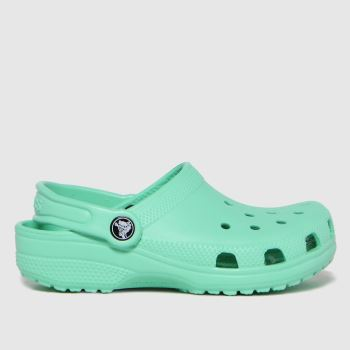 crocs Green Classic Clog Girls Junior