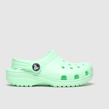 Crocs Light Green Classic Clog Girls Junior