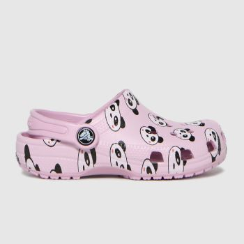 crocs Pink Classic Clog Girls Junior