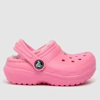 crocs Pale Pink Classic Lined Clog Girls Junior