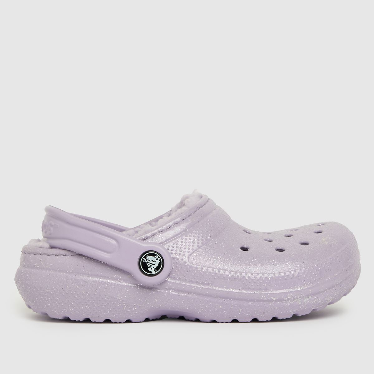 Crocs Lilac Classic Lined Glitter Trainers Junior