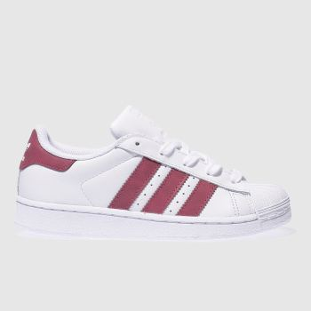 Adidas White Superstar Girls Junior