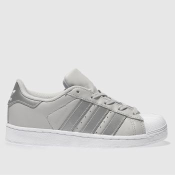 Adidas Light Grey SUPERSTAR Girls Junior