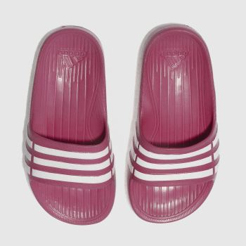 Adidas Pink DURAMO SLIDE Girls Junior