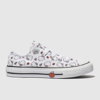 Converse White & Red Hello Kitty Lo Girls Junior