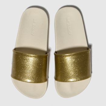 Zaxy Gold Snap Slide Girls Junior