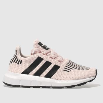 8e8271460 Girls pink   black adidas swift run trainers