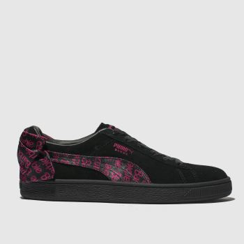 c882bd25317f Girls black   silver puma suede heart athluxe trainers