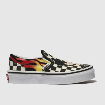 Vans White & Black Classic Slip-On Minnie Girls Junior