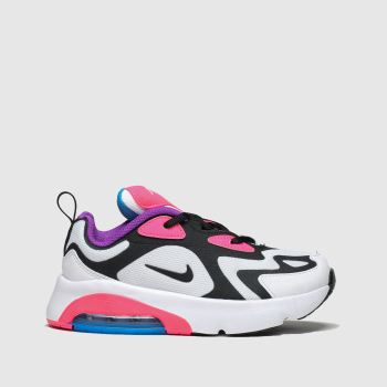 Nike White & Black Air Max 200 Girls Junior