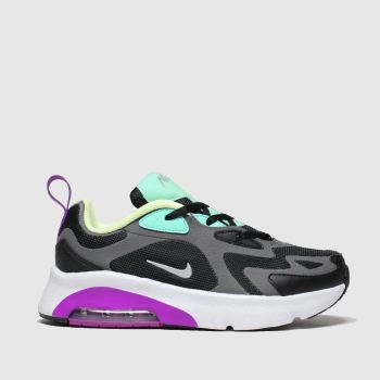 Nike Black & Purple Air Max 200 Girls Junior