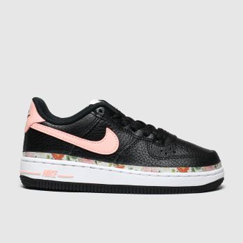 Nike Black & pink Air Force 1 Vf Girls Junior