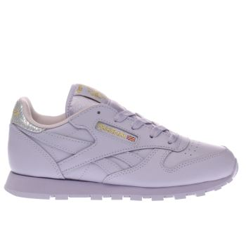 REEBOK LILAC CLASSIC LEATHER GIRLS JUNIOR TRAINERS