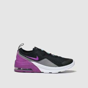 Nike Black & Purple Air Max Motion 2 Girls Junior