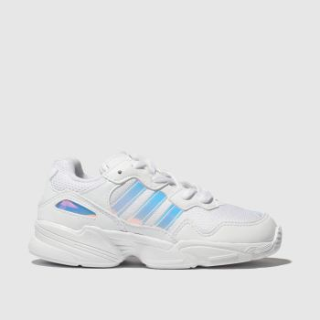 Adidas White & Silver Yung 96 Girls Junior