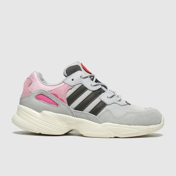 Adidas Light Grey Yung 96 Girls Junior