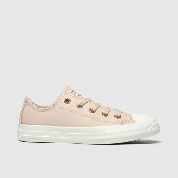 Converse Pale Pink Chuck Taylor All Star Lo Girls Junior