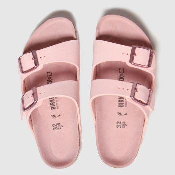 birkenstock pale pink arizona sandals junior