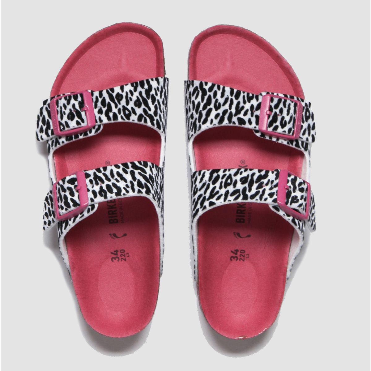 Birkenstock Black & Pink Arizona Sandals Junior